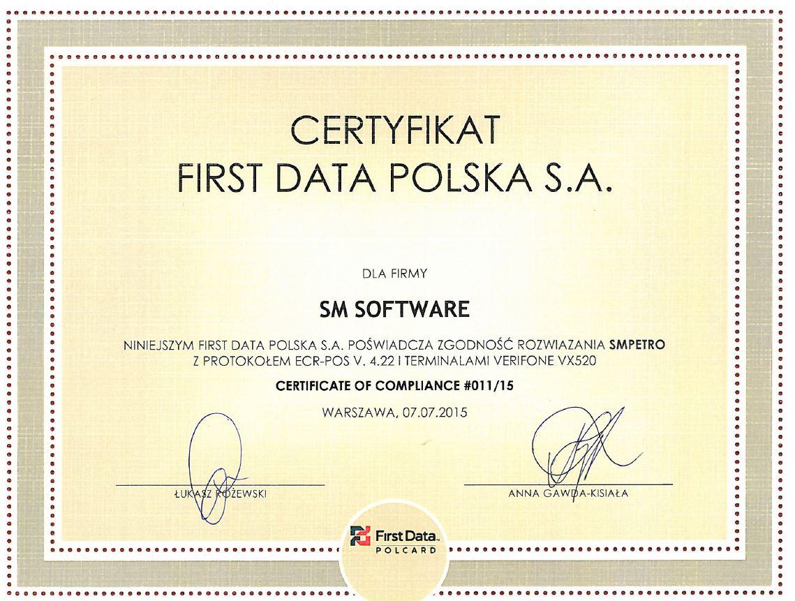 Certyfikat dla SMPETRO